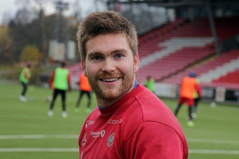 TILBAKE: Gudmund T. Kongshavn var tilbake i spill på dagens TIL-trening. Det er første gang siden 1.juli at 25-åringen har kunnet gjennomføre det.