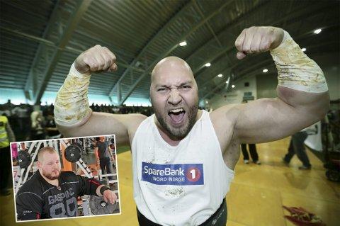 ØNSKER DOPINGFRI STRONGMAN-SPORT: Dag Rune Stangeland og Bjarte Eriksen (innfelt) ønsker at Strongman-sporten i NOrge samarbeid med Antidoping Norge, i etterkant av straffedom for profil i det nordnorske Strongman-miljøet.