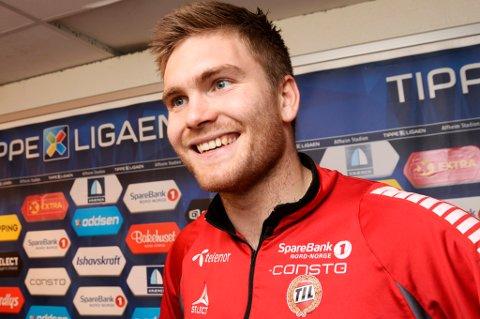 For første gang på nesten fire måneder kan Gudmund Taksdal Kongshavn smile over å være en del av TILs A-tropp. Nå håper han skadeplagene er over.