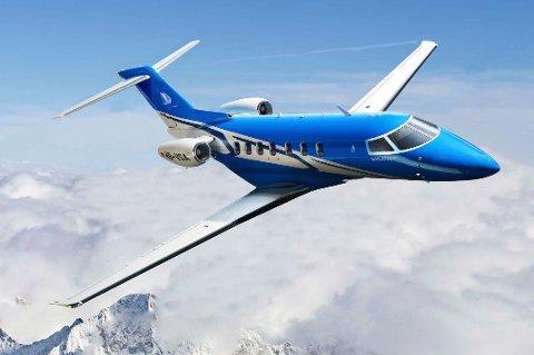 KANDIDAT: Flytypen PC-24 fra produsenten Pilatus var en kandidatene som Luftambulanstjenestens nye jetfly.