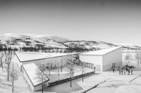 SNART FERDIG: Byens nye krematorium og seremonirom skal stå ferdig i løpet av året ved Sandnessund gravlund.