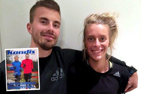 Kristian Ulriksen og Kathrine Kvernmo sin historie når nå leserne av bladet Kondis (innfelt).