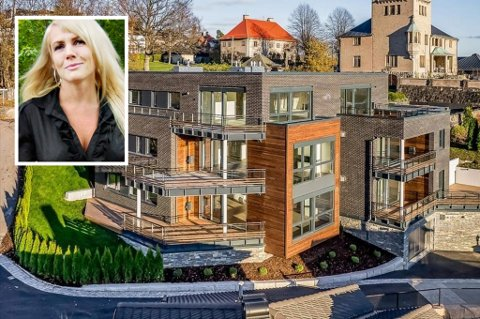 FLYTTER: Psykolog og sexolog Kristin Spitznogle slår sine pjalter sammen med kjæresten Stephan Dormagen og flytter fra Lier til Drammen. Spiznogle og samboeren flytter inn i leiligheten i andre etasje til venstre i bildet. (Foto: Eiendomsmegler Dahl)
