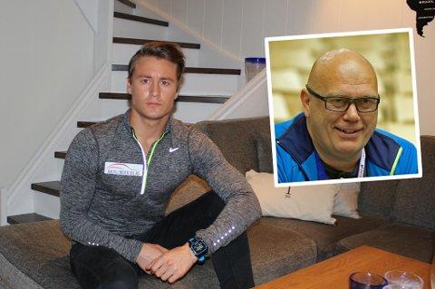 TILBAKE: Eivind Krane Heimdal ble juniorverdensmester i 2014 i langrenn. Så møtte bardugutten veggen fysisk og psykisk. Mannen som hjalp han med å takle problemene er tidligere toppdommer i fotball og nå psykolog hos Olympiatoppen sentralt, Tom Henning Øvrebø (innfelt).
