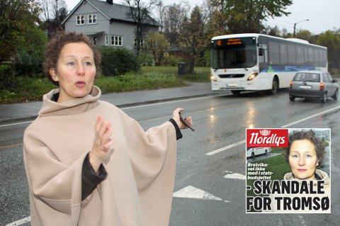 SLÅR TILBAKE: Ordfører Kristin Røymo (Ap)  i Tromsø kommune. Innfelt fredagens Nordlys. Foto: Thor Harald Henriksen