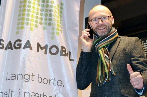 MOBILSELSKAP: Daglig leder Knut-Bjørnar Braathen i Saga Mobil er fornøyd med starten.
