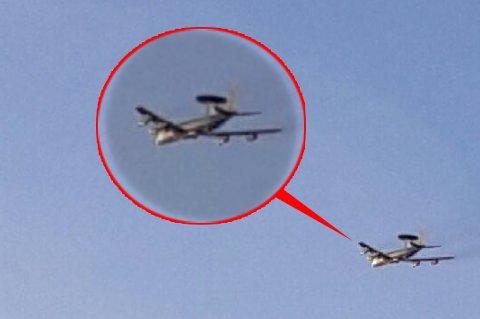 NATO-KJEMPE: Et Boeing E-3 Sentry overvåkingsfly ble observert over Tromsø tirsdag formiddag.