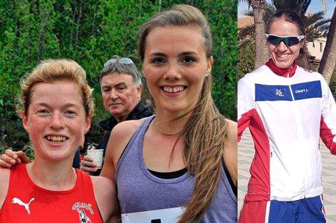 Hilde Aders (t.v.) og Yngvild Kaspersen er tatt ut til å løpe VM i ultraterrengløp i Italia, mens Guro Skjeggerud (t.h.) skal representere Norge i EM i 100-kilometer. Skjeggerud har også ambisjoner om å bli tatt ut til VM i 24-timersløp.