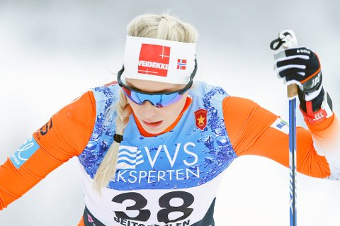 IMPONERTE: Lovise Heimdal med knallprestasjon på sprintprologen i Skandinavisk Cup.