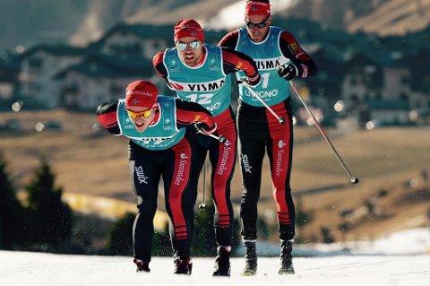 SESONGBESTE: Snorri Einarsson (fremst) ble nummer ni skiclassics-løpet Toblach-Cortina i dag. Det er Tromsø-løperens beste plassering så langt.