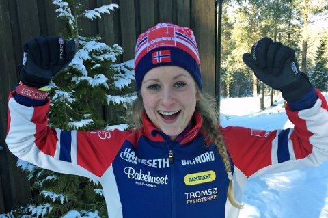 JUBEL: Anna Svendsen jublet for karrierebeste med andreplass i Norgescupen søndag.