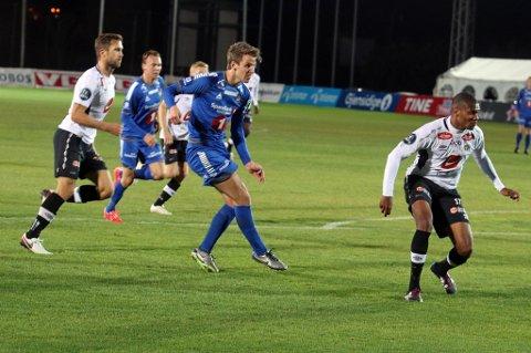 Her svir Thomas Lehne Olsen TILs beste sjanse i 0-0-oppgjøret mot Sogndal i La Manga mandag kveld.