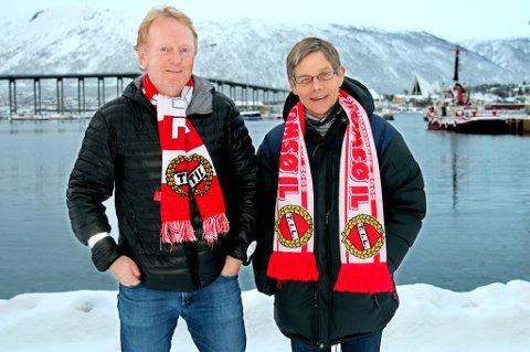 Styreleder Per Aronsen (t.h.) i TIL Holding AS har fått med seg Tor Vadseth på å lage en omfattende undersøkelse om TIL som klubb. Målet er å bedre klubbens omdømme, som de oppfatter som svekket de siste årene.