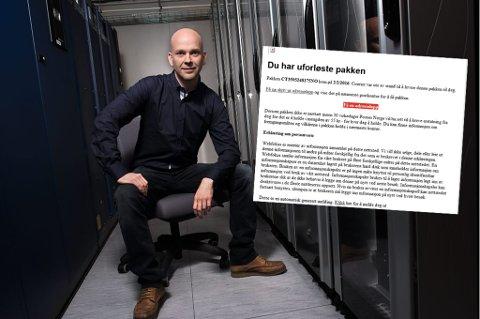 MEST VANLIG: Svindel-eposten innfelt er den som florerer hyppigst nå om dagen, ifølge daglig leder Rune Hansen i Bedriftssystemer.