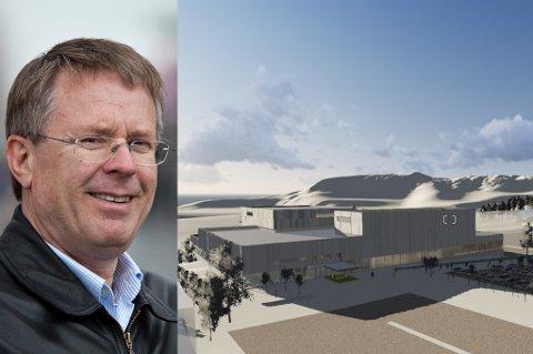 KRITISK: Fylkesmann Bård M. Pedersen tviler på at kommunen rekker byggestart for Tromsøbadet 1. april.