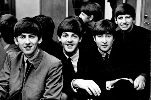 May 05, 1968; Stockholm, Sweden; Portrait of the famous British pop group, THE BEATLES, during their visit to Sweden. From left to right are, GEORGE HARRISON, PAUL MAcCARTNEY, JOHN LENNON and RINGO STARR. Mandatory Credit: Photo by KPA/ZUMA Press. (©) Copyright 1968 by KPA  FOTO: Scanpix / KPA