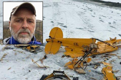 RETT I BAKKEN: Etter at motokraften forsvant var det ikke mye Pedersen kunne gjøre for å redde flyet. Foto: Privat