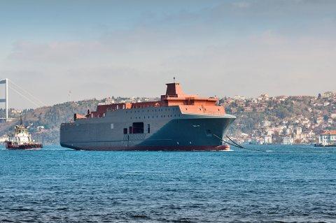 KLART: Skroget av nye Marjata ankom Norge i 2014, og settes inn i tjeneste i løpet av dette året