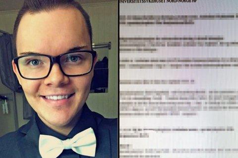 FEIL PAPIRER: Remi Pedersen fant en annen kvinnes papirer i sin journal. Han er ikke den enese som har gjort dette. Foto: privat