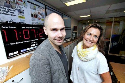 VOKSER OG VOKSER: Nordlys har fått over 2.500 flere abonnenter i løpet av det siste året.  Direktør for forbrukermarked Eva Halvorsen og sjefredaktør Anders Opdahl gleder seg over den sterke veksten.