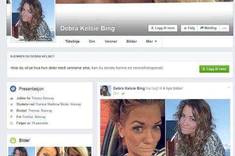 FALSK PROFIL: I natt dukket denne profilen opp på Facebook. Personen på bildene er kjent - navnet ikke. - Litt ubehagelig, sier Sp-politiker Sandra Borch.