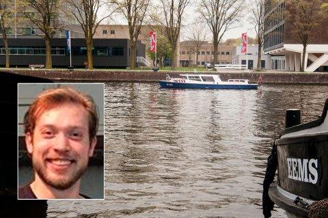 IKKE FUNNET: Torsdag var flere politibåter i vannet i området der Kay-Morten Rasmussen (27) (innfelt) fra Tromsø sist ble sett. Foreløpig har ikke søket gitt resultater.