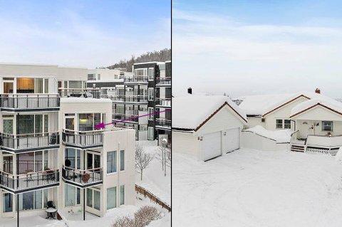 OVER TAKST: Disse to boligene ble solgt godt over takst forrige måned. - Folk var trygg på hva de skulle kjøpe, sier megleren.