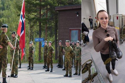SISTE OPPSTILLING: HV-16-ungdommen trådte av for godt lørdag og etterpå var det innlevering av alt utstyret. Foto: Kristian Berg/Forsvaret