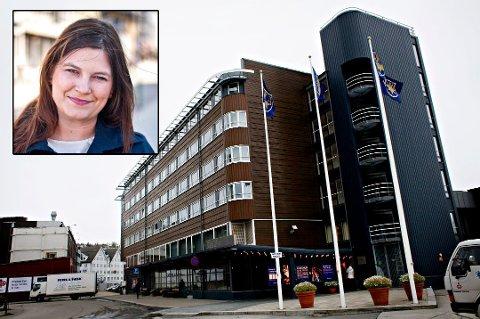 KAN AVLYSE: Etter planen skal Troms-konferansen avholdes på Scandic Ishavshotel neste uke. Nå kan konferansen avlyses på grunn av hotellstreiken, sier fylkesrådsleder Cecilie Myrseth (Ap) i Troms.