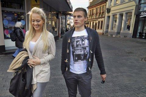 Ruben Yttergård Jenssen og kona Maria Evertsen Berg i Kaiserslautern.
