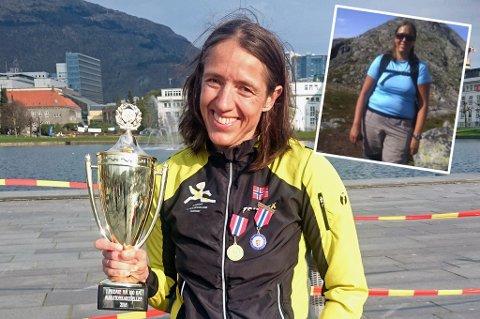 Guro Skjeggerud (42) ble Norgesmester i 100 kilonetersløp i Bergen lørdag. Det var ganske utenkelig for tobarnsmoren for litt over fire år siden (innfelt).