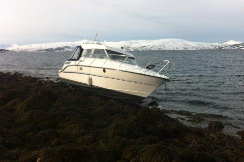PÅ LAND: Bildet ble tatt i forbindelse med et havari på Tromsøya for noen år siden. Foto Are Medby.