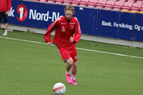 KLAR FOR FALKENBERGS FF: Thomas Drage er klar for Allsvenskan-klubben Falkenbergs FF. Her på TIL-trening i forrige uke.