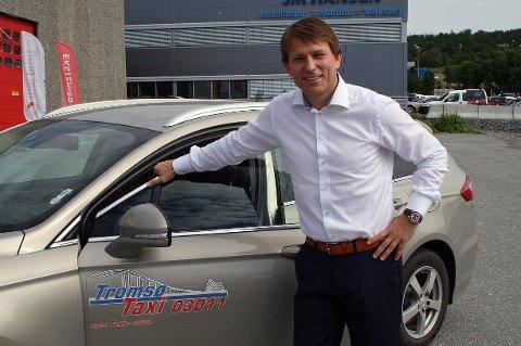 TAXI-STEINAR: Steinar Nilsen ble ansatt som daglig leder i Tromsø Taxi i fjor sommer. Nå kan han bli nødt til å heve sin egen taxikompetanse.