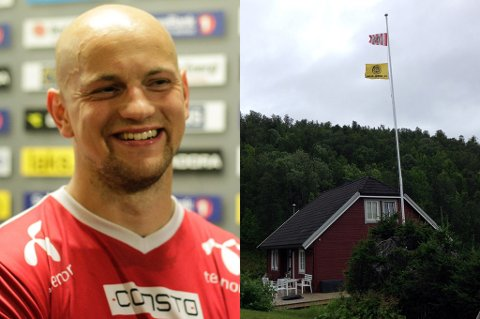 Hans Eriksen Norbye har igjen vært på ferde overfor sin nabo og Glimt-supporter Ronny Nergård. Vi noterer det høyeste stuntet så langt i den vennlige nabofeiden.