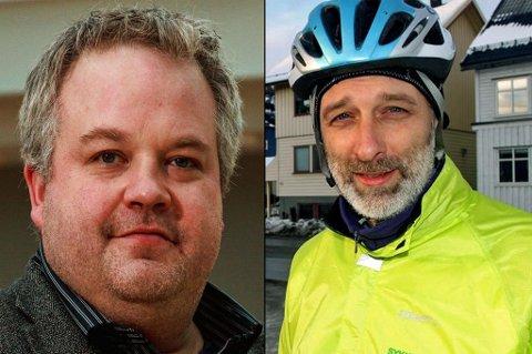 HAR SØKT: Peter Reinholdtsen, tidligere Høyre-rådgiver i det forrige byrådet, og Gjert-Henrik Vedeler i Sykkelbyen Tromsø er blant de 43 søkerne på den nyopprettede jobben som kommunikasjonsrådgiver i Byutvikling i kommunen.