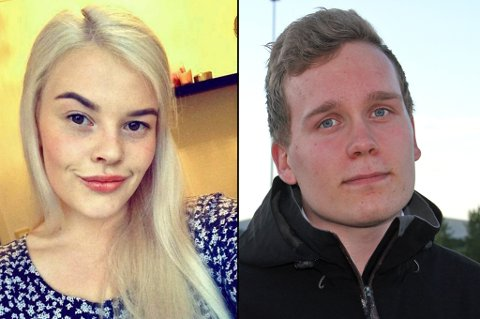 STUDENTER: Johanne Eline Iversen (19) og Eilif Storslett Lund (21) skal begge studere i Tromsø til høsten. Ingen av dem har funnet seg et sted å bo. Foto: Astrid Øvre Helland/Privat