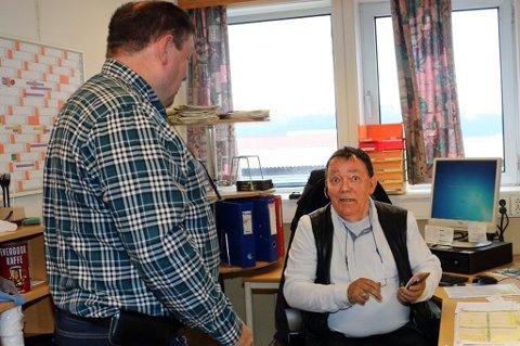 TAKKES AV: Tormod Gisvolds siste arbeidsdag på kontoret etter et over 50 år langt arbeidsliv.