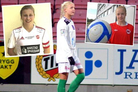 STORE TALENTER: Cesilie Andreassen (f.v.), Celine Emilie Nergård og Marie Dølvik Markussen er tre av Nord-Norges 30 største talenter, mener Nordlys' journalist.