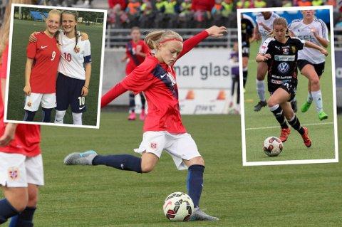 SPENNENDE SPILLERE: Runa Lillegård (f.v.), Eline Hegg, Elin Sørum og Thea Hagenes er fire av Nord-Norges mest spennende spillere, mener Nordlys' journalist.