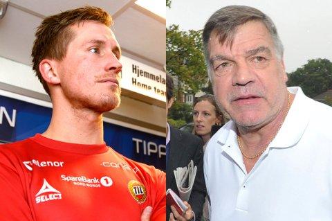 Morten Gamst Pedersen har bare gode ord å si om sin gamle trener Sam Allardyce. Til høyre er Allardyce avbildet da han møtte media onsdag etter tirsdagens sparking som England-manager.