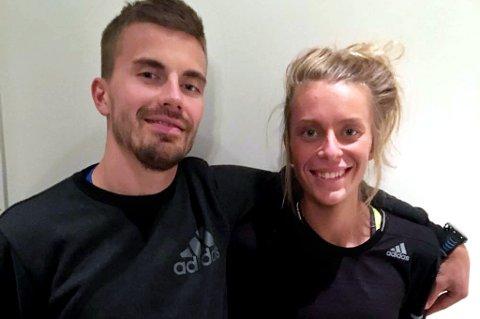 Samboerparet Kristian Ulriksen og Kathrine Kvernmo løper mellom 120 og 150 kilometer i uka, før og etter jobb og fulltidsstudier. Det gjør også at de hevder seg godt nasjonalt.
