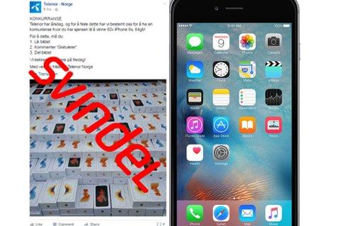 Mange har i dag blitt eksponert for det som ser ut som en konkurranse fra Telenor hvor man kan vinne en iPhone 6s. Nå advarer Teleno alle gjennom sin odffisielle Facebook-side.