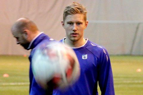 Tomas Kristoffersen på TUIL-trening før helga. Nå er midtbanespilleren på besøk hos Sandnes Ulf, og en overgang kan være nært forestående. Skulle 23-åringen signere for vestlandsklubben, vil han gå helt gratis fra TUIL.