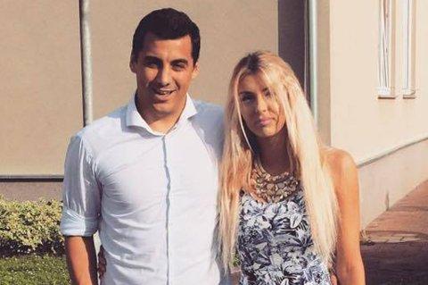 Domagoj Ferencina, her med kjæresten Petra Lena Kovac, er på vei til Tromsø for å spille håndball og jobbe ved siden av. Som toppspiller i den kroatiske eliteserien er det relativt oppsiktsvekkende.