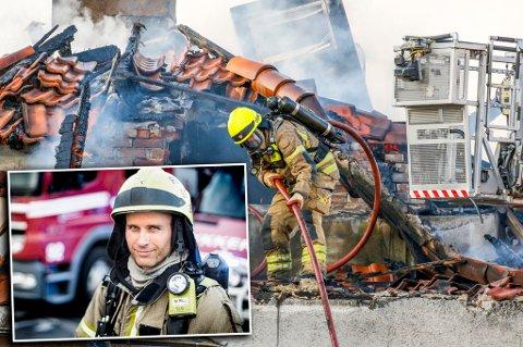En av «hovedrollene» i serien Oslo brenner er det røykdykkerleder Jørn Kristiansen fra Tromsø i Tromsø som har. Han er leder for et team med røykdykkere på Hovedbrannstasjonen i Oslo, og står i fremste rekke i kampen mot flammene. Foto: Lars Magne Hovtun, Oslo brann- og redningsetat