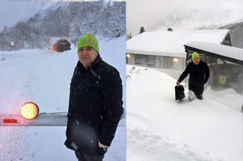 FINNE LØSNINGER: Rasfaren har ført til at veien over Breivikeidet og veien gjennom Pollfjellet er stengt. Da er Lyngseidet nærmeste isolert. Lyngen-ordfører Dan Håvard Johnsen forteller at de nå må finne nødvendige løsninger. Foto: Privat