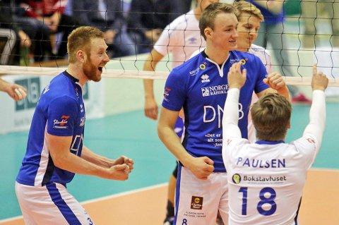 Martin Støyten, Petter Østvik og co. kunne juble igjen lørdag, denne gangen for 3-0 over Koll og fortsatt serieledelse.