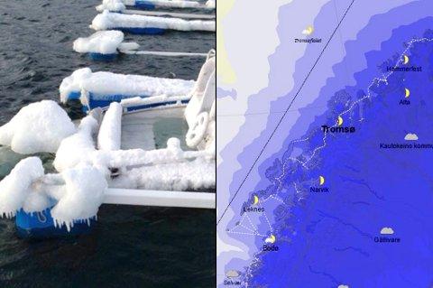 ISING: Småbåter kan rett og slett synke hvis det legger seg for mye is på dem.