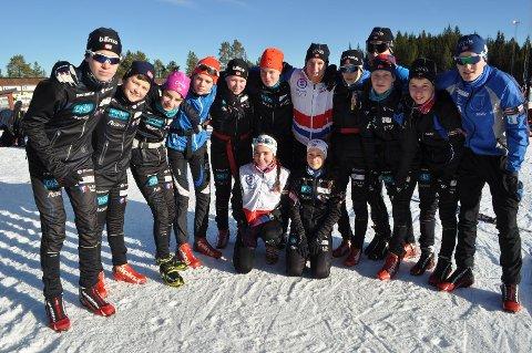 LITE FRAFALL: Her er troppen til Tromsø Skiskytterlag under Hovedlandsrennet i skiskyting i 2014. Da hadde klubben ni utøvere i 15-årsklassen. I dag er åtte igjen, og gikk Norgescup på Ål i helgen, mens idretten i Norge opplever enorme frafallstall, der åtte av ti tenåringer slutter med idrett.